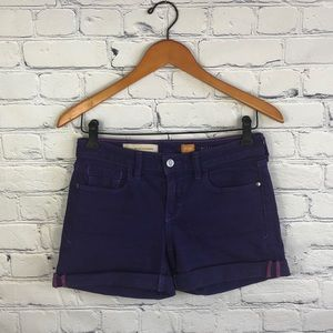 Anthro Pilcro and the Letterpress Purple JeanShort
